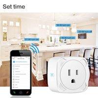 Smart Power Plugs Mini US Wifi Plug Monitor Protector 100-240V Life APP Voice Control Timer Socket Work With Alexa Google