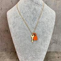 Высокососрельтение медные дамы Золотой Ключ Подвесной Дизайнер Классические Ожерелье Ожерелье Роскошные Ювелирные Изделия Стерлинговые Серебряные Ожерелья и Оригинальная коробка