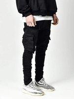 Men's Jeans Men Pants Casual Cotton Denim Trousers Multi Pocket Cargo Fashion Pencil Side Pockets