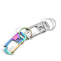 Stainless Steel Bottle Opener with Wrench Ruler Carabiner Keychain Multi Tool for Climbing Hiking Camping 884 B3
