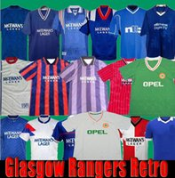 Vintage Glasgow Rangers Retro 84 87 90 92 93 94 95 96 97 99 01 08 09  soccer jerseys GASCOIGNE LAUDRUP football Shirts Ireland kits Uniforms