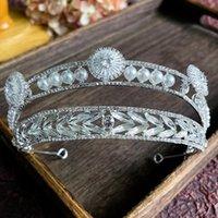 Hair Clips & Barrettes 2021 Bridal Crown Zircon Pearl Headdress Wedding Jewelry High-end Fashion Headband Tiaras Accessories HQ0183