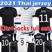 ألمانيا 2020 2021 المشجعين لاعب نسخة لكرة القدم الفانيلة فيرنر ريوس كيميش كروس غنابري هافرز الرجال النساء أطقم الجوارب مجموعات كاملة قمصان كرة القدم