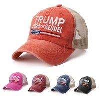 دونالد ترامب 2024 قبعة بيسبول خليط غسلها بالأسى الرياضة في الهواء الطلق المطرزة تتفوق تكملة شبكة القبعات DD200