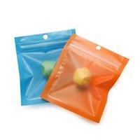 Saco de alumínio de alumínio colorido saco de correr zip um lado lateral lixo de embalagem de plástico saco de embalagem cheirar bolsas de prova 90 s2