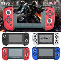 X18S Retro Handheld Game Console Double Joystick Support AV Output MP4 Player TF 4.3 inch Game Players For PS1 GBC MD FOR adult Children