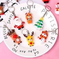 Cartoon Christmas Key Chain Doll Key Ring Gift Fidget Toys For Women Girls Bag Pendant Figure Charms Key Chains Jewelry