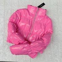 Atxyxta colhido baiacu beber casaco bolha winter parka mulheres nova moda vestuário preto vermelho rosa lj201021