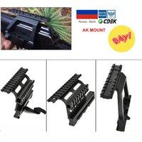 AK47 AK74 SAIGA Weaver Side Scope Mount Rail Quick QD 20mm Picatinny dross doppelte seiten AK Sehenswürdigkeit Halterung Halterung Rifle