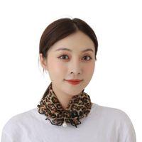 Atkılar Moda Inci Önlüğü Eşarp Basit Vahşi Ahşap Kulaklar Altın İplik Dantel Kadın Günlük Baskı Bayanlar için Hiç Değişen