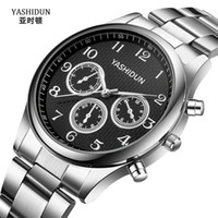 Ashton Fashion Trend Steel Belt Quartz Watch Sports Men'...