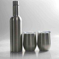 Mugs 750ml Wine Set 12oz Tumblers 25oz Stainless Steel Bottle with Egg Shaped Mug Insulation Vacuum Glass Sets Gift ECOX