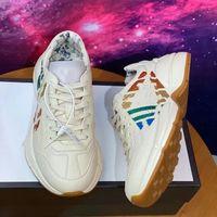 أحذية رياضية من جلدية الكريات في 2021، الرجال النمر صافي Luxueux طباعة مع الفراولة، ريترو مدرب تصميم السيدات تصميم أحذية رياضية 35-45
