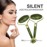 Natural Jade Roller Face Massager Health Facial Beauty Massage Tool Thin Lose Weight BeautyCare Double-headed Green RollerTool