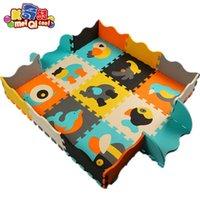 EVA Foam Play Mat Baby Puzzle Tapetes Fence Cercas Tapetes Pad Brinquedos Para Crianças 30 * 30 * 1cm Educação e Telhas Interligadas H0831