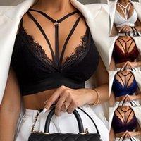 Bras 2021 Sexy Bra Women Hollow Lace Lingerie Bandage Bralette Bustier Tops Push Up Summer Underwear