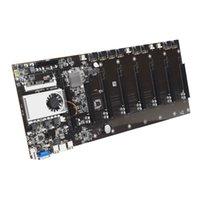 Elevata prestazioni VGA HD Output BTC Supporto 8 GPU Card Bitcoin Crypto Etherum Riserless Scheda madre Mining BTC-T37