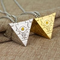ZXMJ Yu-Gi-Oh! Necklace Pendant colour Gold Hot Anime YGO Millenium Puzzle Necklaces for Women and Men Jewelry Gift