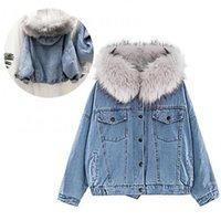Women's Jackets Women Hooded Faux Fur Lined Warm Coat Winter Autumn Thick Fashion Outwear Jacket