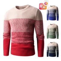 Men's Sweaters Men 2021 Autumn Classic 100% Cotton Warm Thick Crewneck Pullovers Coat Winter Casual Vintage Soft Sweater