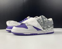 2021 Release Off-WhiteX Duck Low White Varsity Purple Skateboard Shoes Casual Runner Outdoor Trainers Sneakers Sports Come With Box