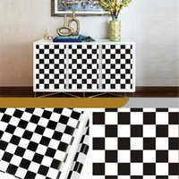 Wallpapers Modern 45cmx10m PVC Black White Striped Self-adhesive Wallpaper Contract Wall
