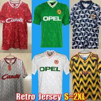 أعلى قمصان كرة القدم في تايلاند ريترو أيرلندا 1990 1991 1992 1993 1994 قميص كرة القدم خمر شمال 90 91 92 93 94 أطقم الرجال الوطنية Uinform S إلى XXL