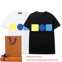 T-shirt da uomo Summer Moda Boys New Tees Casual Womens Tops di alta qualità Unisex T-shirt 2021 INS Hot Tees 2 Colori 2021 Nuova vendita calda