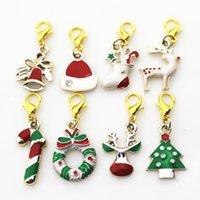 Mélanger 50PCS / Lot Christmas Homester Fermoir Dangle Diy Bijoux Accessoires Bracelet / Pendentif Hanging Charms