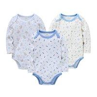 Rompers Ropas de 유아 아기 소녀 Bodysuit 태어난 소녀 소년 옷 몸 긴 소매 100 % 코튼 아기의 속옷 잠옷