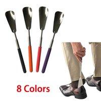 Abbigliamento Armadio Stoccaggio Acciaio Acciaio Lungo Maniglia per scarpe professionale Horn Shoehorn flessibile Shoehorn utile Cucchiaio di sollevatore