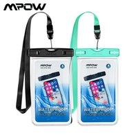 2 팩 MPOW PA185 IPX8 방수 전화 파우치 전체 투명성 IPX8 핸드폰 드라이 가방 아이폰 XR XS Max 8 7 Huawei P20 Redmi Phone