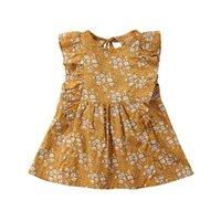 Mädchen Kleider Kinder Baby Mädchen Blumenkleid Sommer Kleidung Sleeveless Rüschen Baumwolle Sommerkleid Mini A-Linie Urlaub Strand