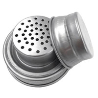 Mason Jar Shaker Lids Stainless Steel cover for Regular Mouth Mason Canning Jars Rust Proof Cocktail Shaker Dry Rub Cocktail 70mm GWC4423