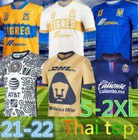 LIGA MX 20 21 Club America Soccer Jerseys Leon Third Away 2021 2022 Camisetas Tigres Unam Chivas Cruz Azul 3e Traduction Chemises de football