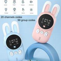 Children's Walkie Talkie Kids Mini Toys Handheld Transceiver 3KM Range UHF Radio Lanyard Interphone Talkie Walkie Baby Gift