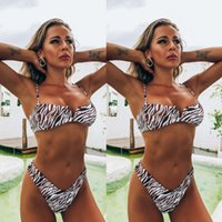 Women's Swimwear Bikini Swimsuit Women Bathing Suit Summer Beachwear Zebra Print Push Up Padded Fashion