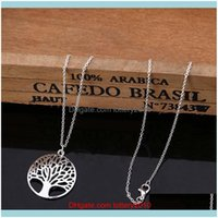 Bracelet, & Jewelry Sets Jewelrysier Plated Living Tree Of Life Pendant Necklace Fit 18Inch O Chain Or Earrings Bracelet Ring For Women Girl