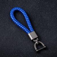 بو اليد المنسوجة الجلود حبل مفتاح سلسلة قلادة المعادن سيارة المفاتيح الهدايا الإبداعية بالجملة S32 الفأس
