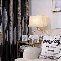 Cortina cortinas como estilo chinês moderno simples veludo digital costurando luz sombreamento de luxo para sala de jantar quarto quarto