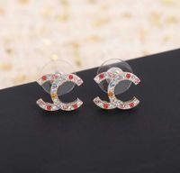 2021 Top Quality Stud Brinco com Diamante Colorido para Mulheres Presente de Jóias de Casamento com Baixa Frete Grátis PS3522