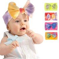 Tie Dye Nylon Bebê Headband Acessórios de Cabelo DIY Meninas Ampla Hairbands Tubo Atacado Crianças Headwear