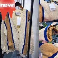 Kobiety Z Długim Rękawem Sweter Kobieta V-Neck Knit Płaszcz Ins Styl Cradigan Geometryczna Top Dama T Koszula Wysokiej Jakości Sweter Jesień Trendy Odkryty