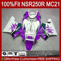 Injektion für Honda NSR250 Purple BLK NSR 250 R NSR 250R 1990 1991 92 93 103HC153 NSR250RR NSR250R MC21 PGM3 90 91 1992 1993 OEM-Verkleidung
