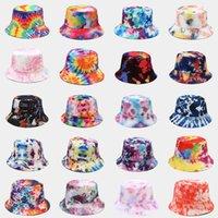 Tie Dye Bucket Hat Man Woman Summer Visor Sun Outdoor Fisher Hiphop Beach Cap 43 Colors