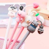Gel Pens 1Pc Kawaii Cute Animal Pen Korean Creative Sweet Lovely Multicolor Black Ink Signature Stationary Office School Supplie