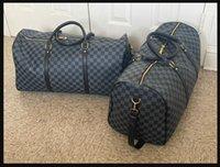 """1-5.LV """"Louis"""" Vitton Bag """"Vutets Wallets Duffle Homem Saco de Viagem Homem Homens Duffel Mochila Ao Ar Livre Bagagem Mensageiro Mensageiro 55cm"""