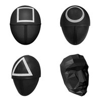 TV Squid Game Masked Man Masks Round Squire Triangle Mask Accessories Delicate Halloween Masquerade Costume Party Props w-01145