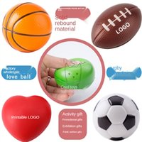 Fidget Squeeze Ball Estrés Alivio Squesa Juguetes Descompresión Esponja PU Fútbol Baloncesto Tenis Baseball 7cm Bolas Squishy para Kid H38CWGZ