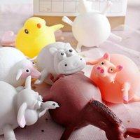 تخفيف الضغط لعبة الإبداعية لينة المطاط نفخ الدجاج فرس النهر up الحيوان ضربة بالون الإجهاد الإغاثة الضغط اللعب المزحة هدية